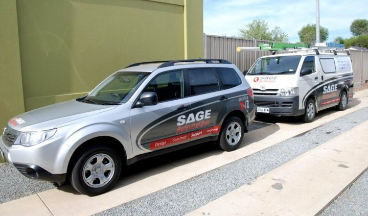 Vehicle Livery - SAGE Automation