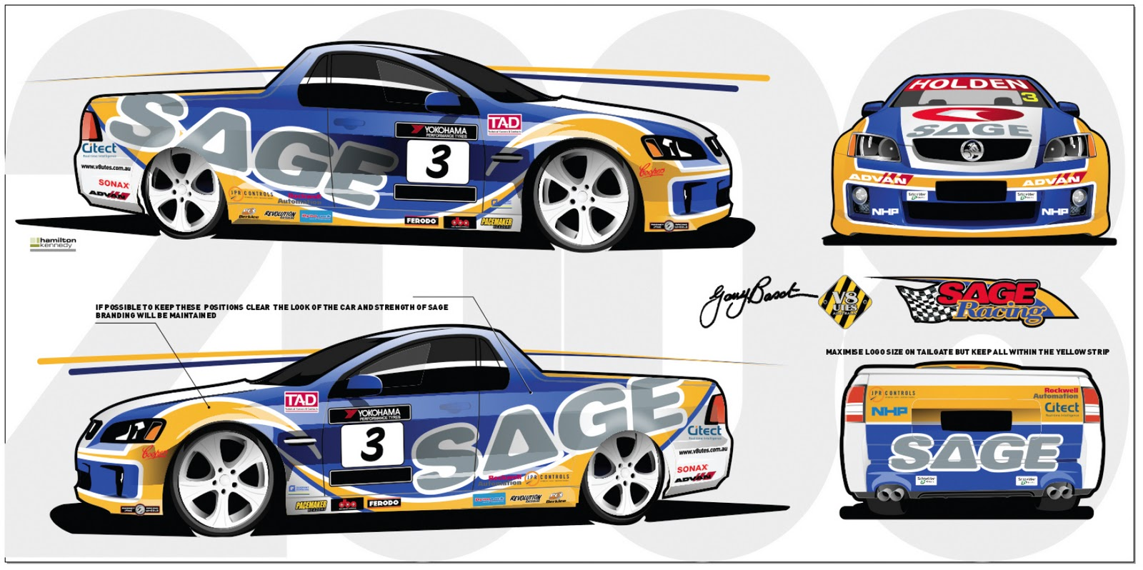Graphic Design Team And Car Graphics Sage Racing Gthink