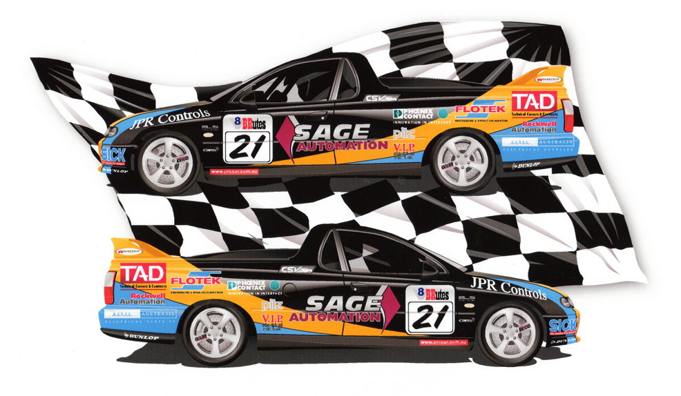 Graphic Design Team And Car Graphics SAGE Racing Gthink - Graphics for cars
