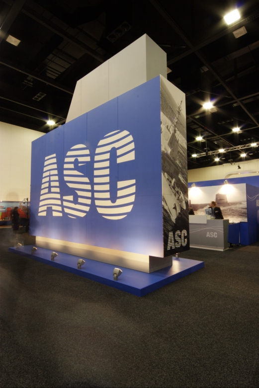 Exhibition - ASC - presenting strong branding - Design + Construction