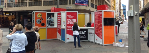 POP UP Display Outdoor Rundle Mall State Government - Department of State Development